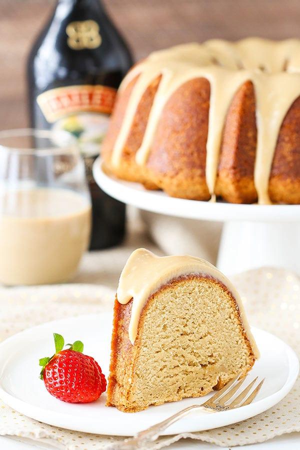 Homemade Caramel Baileys Pound Cake