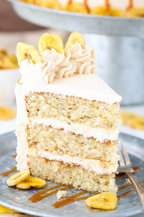 Homemade Caramel Banana Layer Cake