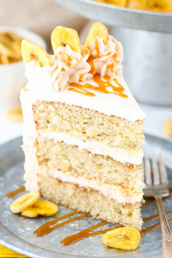 Caramel Banana Layer Cake