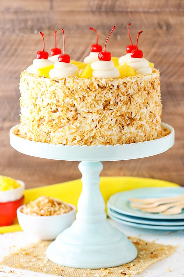 Best Pina Colada Layer Cake