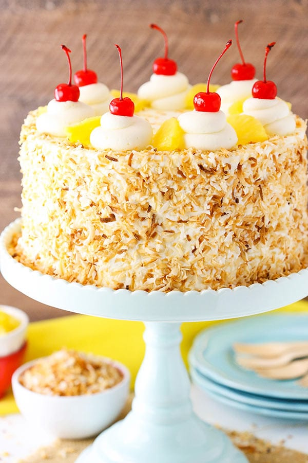 Coconut Layer Cake With Pineapple Filling