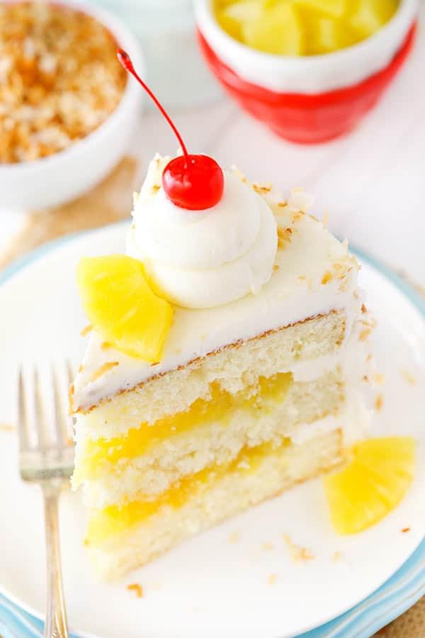 Easy Pina Colada Layer Cake