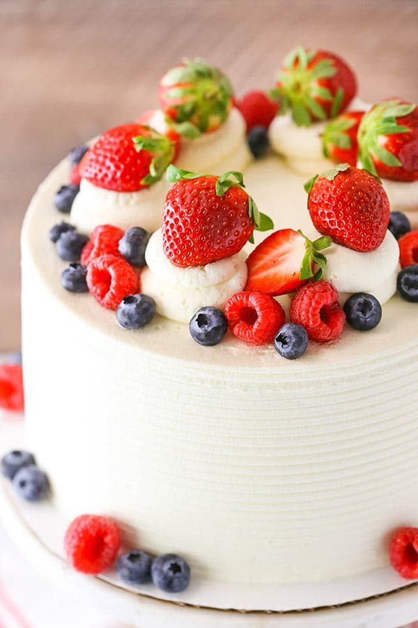 Berry Mascarpone Layer Cake