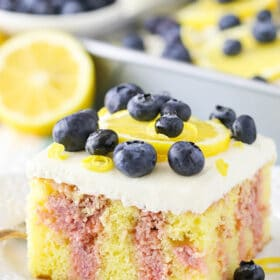 Image of Lemon Blueberry Poke Cake