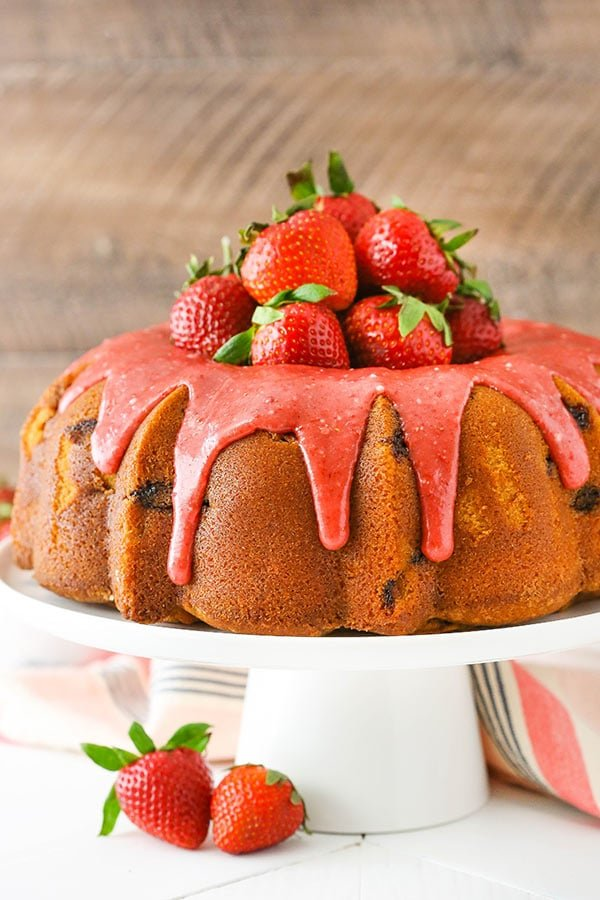 Decorated Strawberry Pound Cake