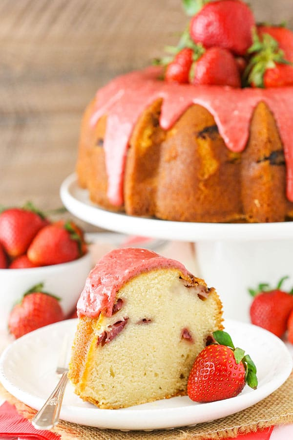 Best Strawberry Pound Cake