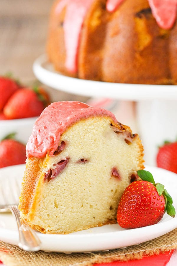 Favorite Strawberry Pound Cake