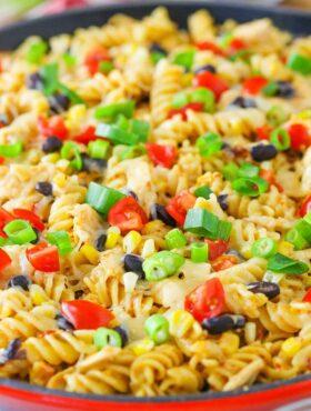 image of Arizona Chicken Pasta in skillet