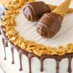 Peanut Butter Chocolate Ice Cream Cone Cake