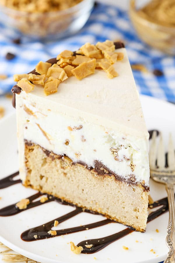 Peanut Butter Chocolate Ice Cream Cone Cake recipe