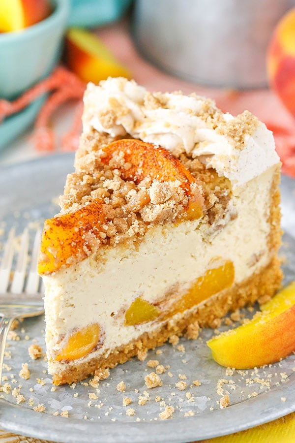 Bourbon Peach Streusel Cheesecake Recipe