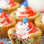 Patriotic Chocolate Chip Cookie Cups