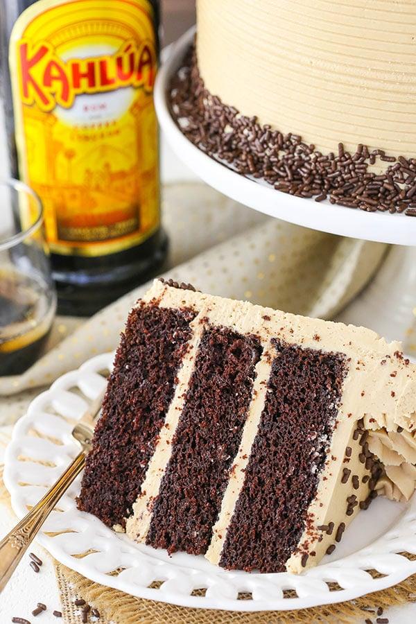 Chocolate Kahlua Birthday Cake