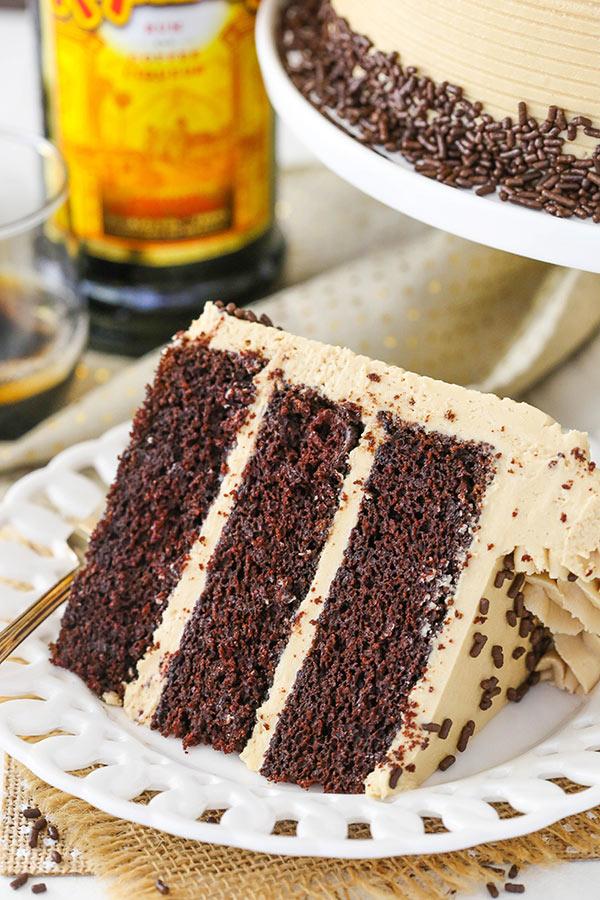 Kahlua Coffee Chocolate Layer Cake - Life Love and Sugar