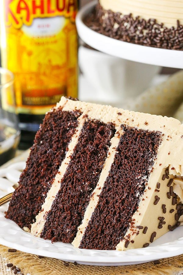 slice of Kahlua Coffee Chocolate Layer Cake
