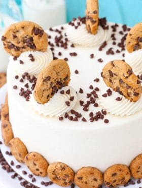 overhead image of Milk and Cookies Layer Cake