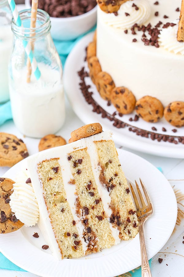 Milk and Cookies Layer Cake slice