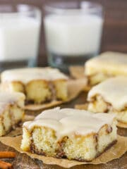 slice of Cinnamon Roll Snack Cake