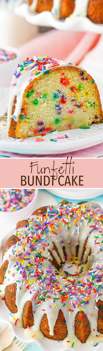 Funfetti Bundt Cake - moist and full of sprinkles!