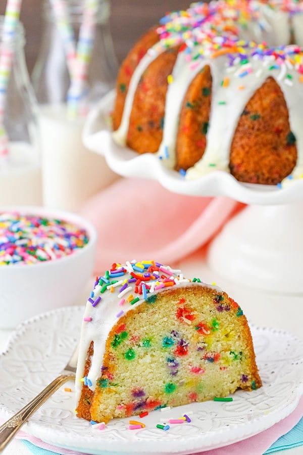 Funfetti Bundt Cake - moist and full of sprinkles!