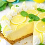 Lemon Mascarpone Cream Pie