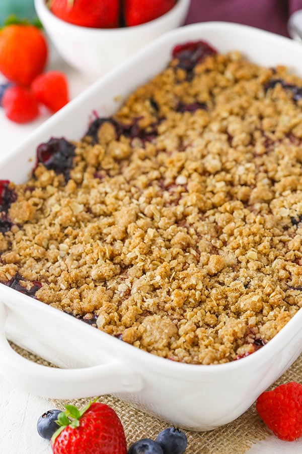 Triple Berry Crisp dessert