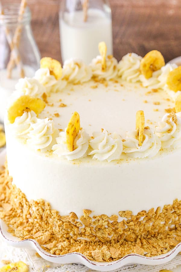 Banana Cream Layer Cake Moist Layers Filled With Fresh Vanilla Pastry