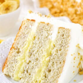 image of Banana Cream Layer Cake slice