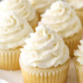 Moist and Fluffy Vanilla Cupcakes! My favorites!
