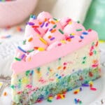 Funfetti Cheesecake with Cake Bottom