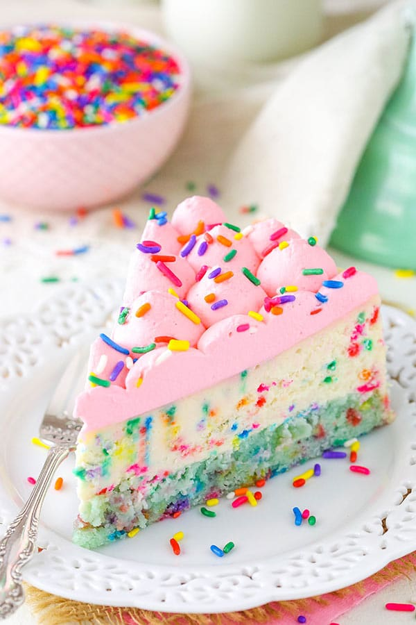 Funfetti Cheesecake With Cake Bottom Life Love And Sugar