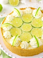 overhead image of Key Lime Cheesecake