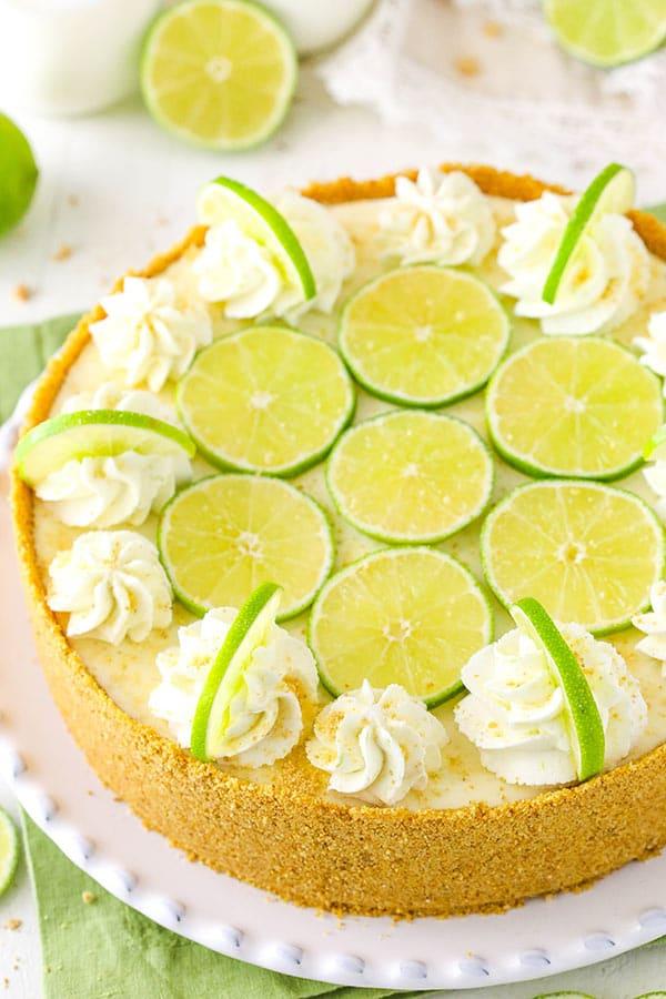 No Bake Key Lime Cheesecake