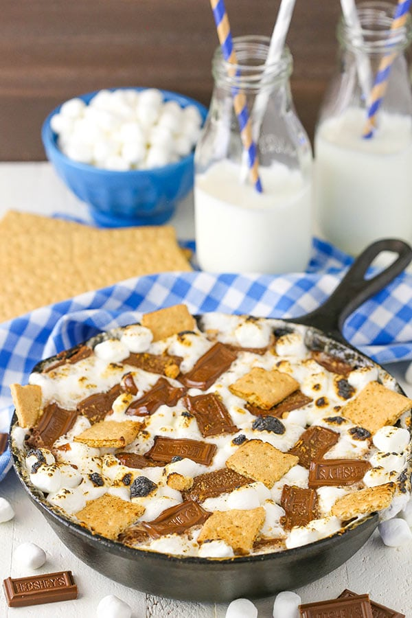 Image of a Skillet Full of S'mores Brownies