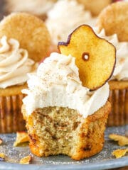 Picture of Apple Snickerdoodle Cupcakes with bite taken out
