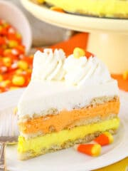 image of Candy Corn Icebox Cake