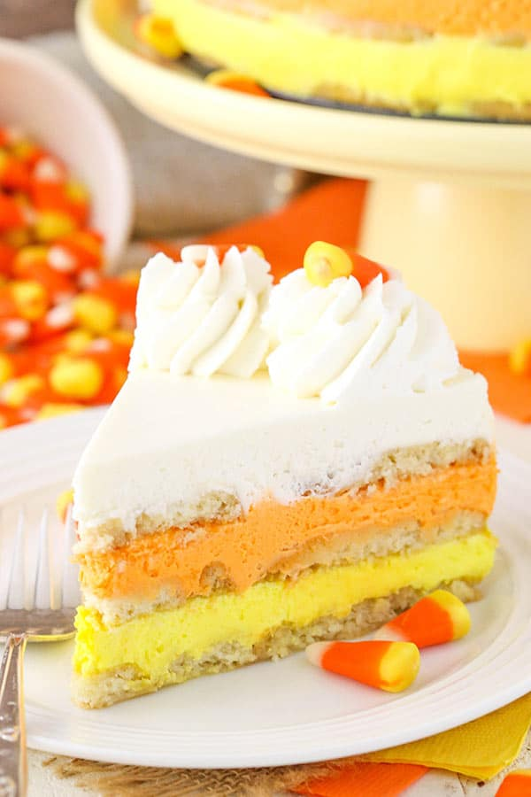 image of Candy Corn Icebox Cake