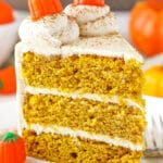 Pumpkin Layer Cake with Whipped Cream Cheese Frosting