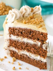 Image of a Slice of Bourbon Spice Toffee Layer Cake