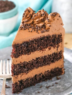 Chocolate Mousse Cake on plate