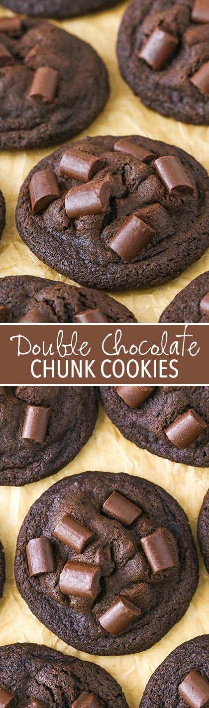 Double Chocolate Chunk Cookies - Life Love and Sugar