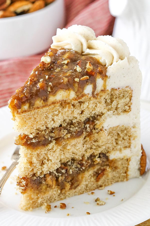 Pecan Pie Layer Cake delicious layers
