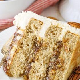 slice of Pecan Pie Layer Cake