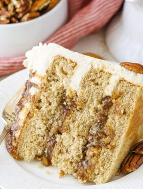 slice of Pecan Pie Layer Cake