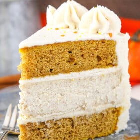 A Slice of Pumpkin Cheesecake Layer Cake