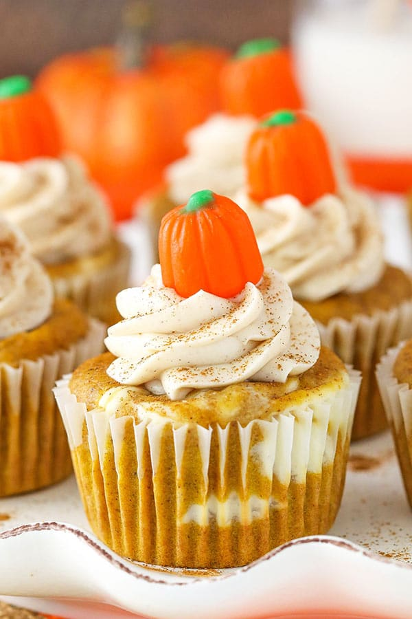 Pumpkin Cheesecake Swirl Cupcakes Layers Of Cupcake And So Good