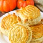 Pumpkin Spice Pumpkin Pastries on plate
