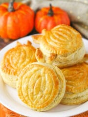 Pumpkin Spice Pumpkin Pastries on plate