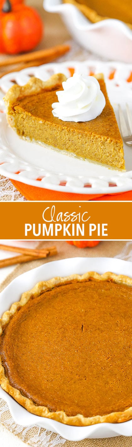 Classic Pumpkin Pie - perfect for Thanksgiving!
