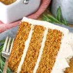 Moist Gingerbread Layer Cake